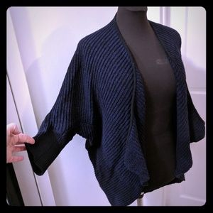 T Tahari Cocoon Bubble Open Sweater Shawl